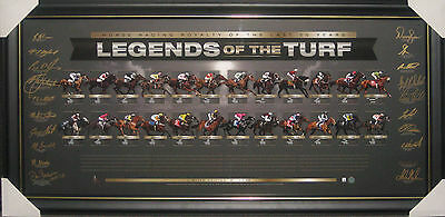 Legends Of The Turf - Signed By 20 Jockeys Framed Official Limited Edition Atag