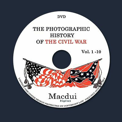 The photographic history of the Civil War c.1911-12 Books Collection 10 PDF 1DVD