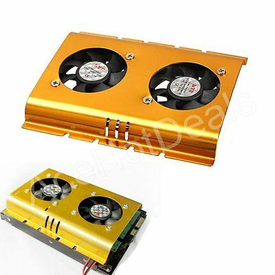 """3.5"""" Inch Dual Cooling Fan Hard Disk Driver HDD Cooling Fan for PC SATA IDE"""