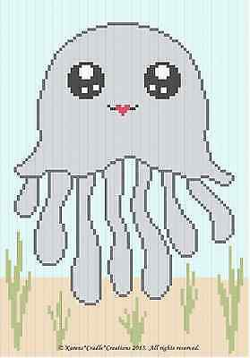 Crochet Patterns - OCTOPUS Sea Life Color Graph Baby Afghan Pattern