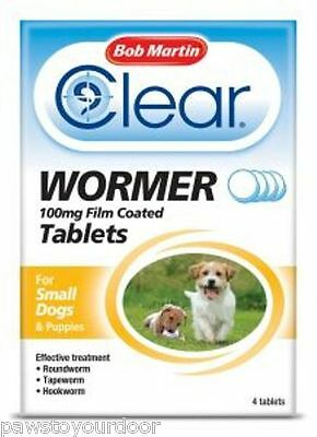 Bob Martin Clear wormer small dog all in one worm tablets 100mg dewormer