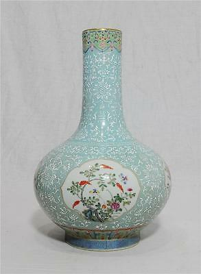 Chinese  Famille  Rose  Porcelain  Vase  With  Mark     M87