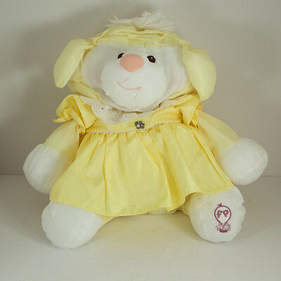 Vtg 1980s Puffalump Yellow Lamb Fisher Price Sheep Stuffed Animal Needs Repair