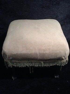 Vintage well built footstool with removable legs.Ideal simple project to recover