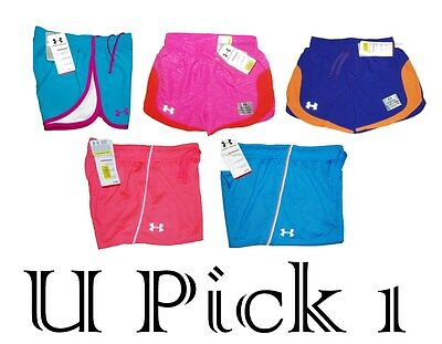 Under Armour Youth Shorts Girls Running Athletic Sports Active UA Short Teens