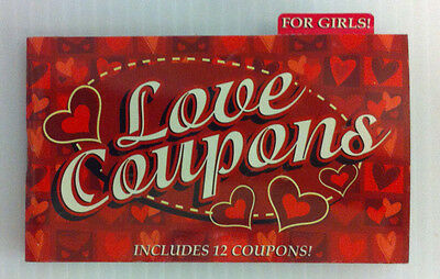 Love Coupons Booklet for GIRLs  12 coupons