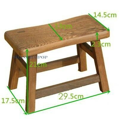 Small Wooden Wood Stool Bench Furniture for Adult Retro Oriental Classical Home