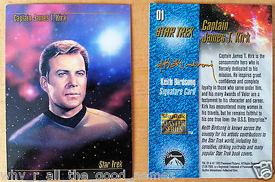 1993 Skybox Master Series STAR TREK Trading Cards 1 Kirk Signature Card 3 McCoy