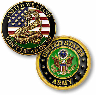 U.S. Army - Don't Tread on Me - Brass Challenge Coin