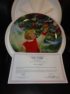 """DANBURY MINT COLLECTOR PLATE: WONDERS OF YOUTH#4 OF SET """"ERIK'S DELIGHT"""""""