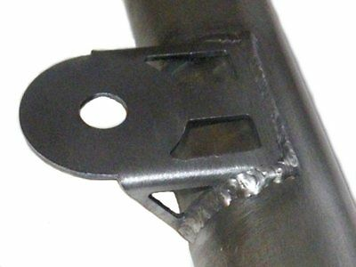 Weld-on antenna mounting bracket for rollcage / bullbar, 2mm steel, very strong