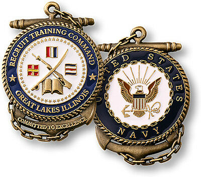 U.S. Navy / Recruit Training Command - USN Brass Challenge Coin