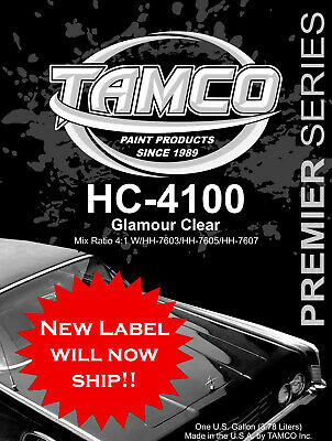 HC4100 Auto Paint Super High Gloss Clear Complete Kit with hardener - 5 qt kit