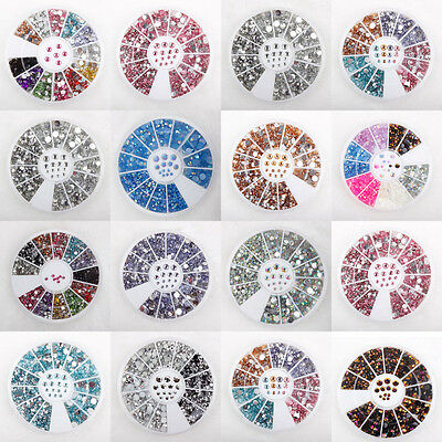 Choose 20 Nail Art Face Festival Wheels Rhinestones Pearls Clear  Mixed Colours