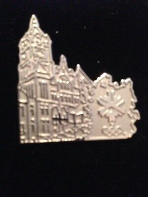 2002 Salt Lake Olympic Pin Silver City County Building Limited Edition #800/2002