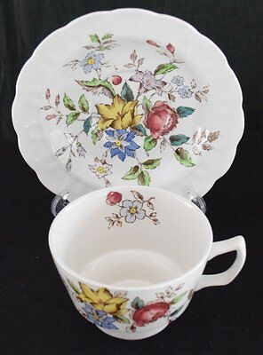 Booths English China, Flowerpiece pattern, small cup and saucer