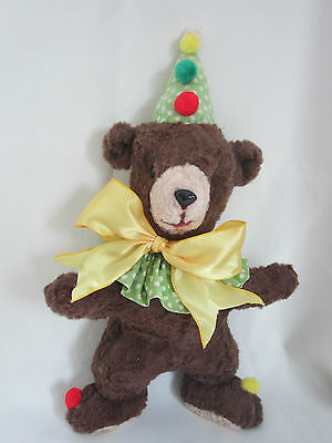 Rescued 1950s Vintage Musical  BIRTHDAY Teddy Bear FREE SHIPPING