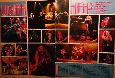 2 german clipping URIAH HEEP LIVE NOT SHIRTLESS GLAM ROCK POP BOY BAND BOYS 70`s