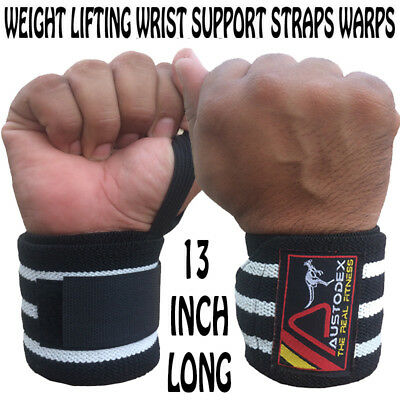 weight lifting gym training body building wrist support bar straps wraps gloves