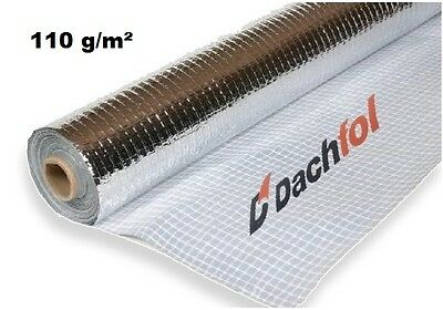 Roof Attic - Insulation - Vapour Barrier Foil Membrane 110GSM 75m² with ALU TAPE