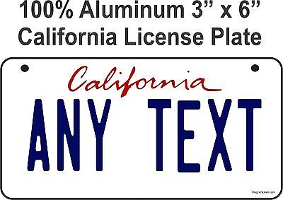 BIKE PLATE - CUSTOM BICYCLE  STATE LICENSE PLATE - CALIFORNIA - personalized