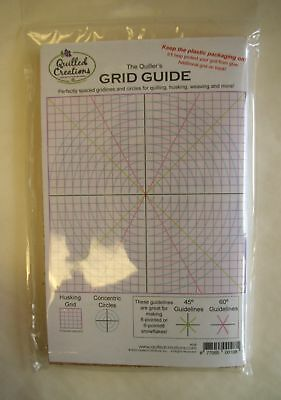 "Quilling GRID GUIDE with Cork Board 5"" x 8"""