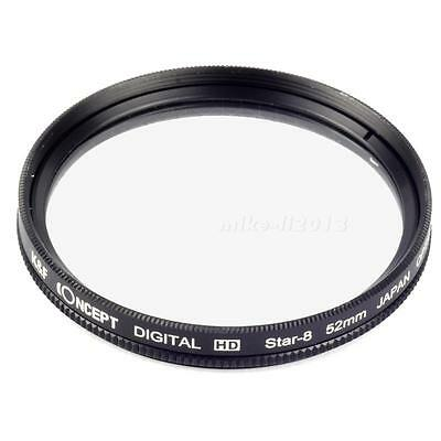 52mm 8 Star Point Line Filter Fit For Nikon Canon Sony Sigma Tamron MKLG