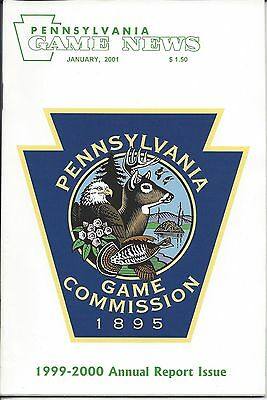 Pennsylvania Game News January 2001 Game Commission logo by Bob Sopchick cover