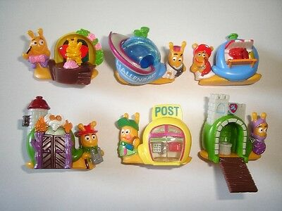 Kinder Surprise Set - Snails With Houses Neues Schneckendorf 1998 - Figures