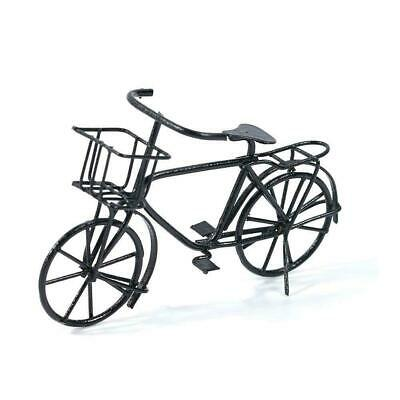 Dollhouse Miniature Black Metal Bicycle Bike old style HE002B