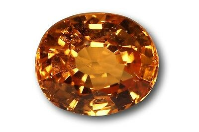 Grenat Spessartite Mandarin naturel 1.11 carat orange