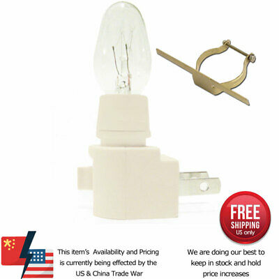Night Light Kit Supply Bulb Brass Clip 6-12 Pack White Switch Fuse Stained Glass