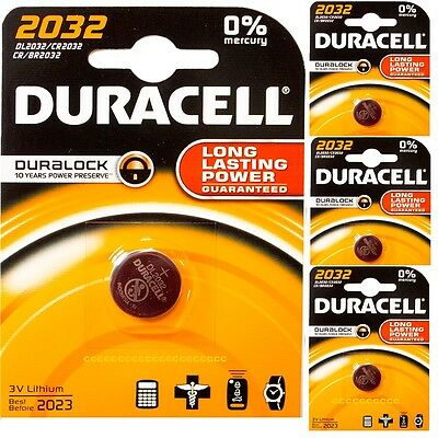 4 X Duracell Cr2032 3V Lithium Coin Cell Battery 2032 Duralock Expiry 2023