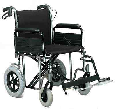 RMA 1485X Heavy Duty Extra Wide attendant Transit Wheelchair with brakes