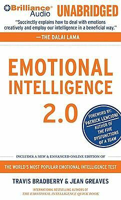Emotional Intelligence 2.0 by Travis Bradberry and Jean Greaves (2010, CD,...