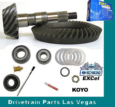 """Richmond Excel GM 8.5"""" 10 Bolt 4.10 Ratio Ring and Pinion Gear Set + Install Kit"""