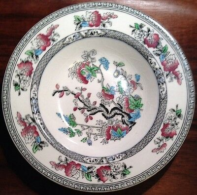 "Vintage INDIAN TREE 8"" Rimmed SOUP BOWL SALAD PLATE Enoch Wood &Sons England NM"