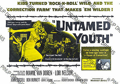 Movie Wall Art Poster Vintage Untamed Youth Rock n Roll Film print Various Sizes