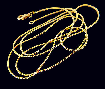 New1 pc 18K Gold Filled 1.2mm noble snake chain necklace size 16-30 inch
