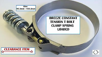 BREEZE CONSTANT TENSION SPRING LOADED T BOLT CLAMP 95.3mm - 103.2mm *CLEARANCE*