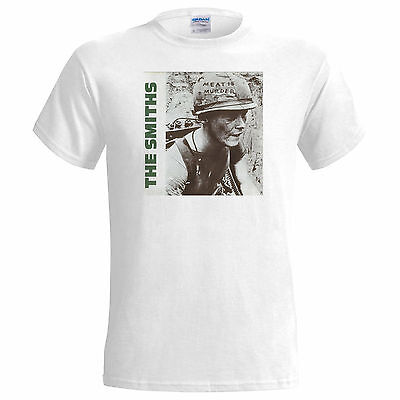 Unofficial The Smiths  Meat Is Murder Mens T Shirt  Morrisey Johnny Marr