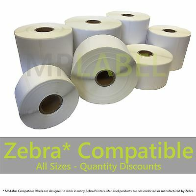Zebra Compatible Direct Thermal Labels - Multi-roll Discount -FAST FREE SHIPPING