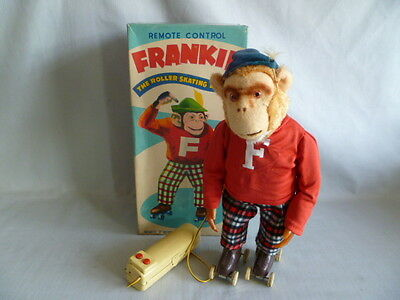 Batterieautomat  Frankie the Roller Skating Monkey OVP  Made in Japan   Alps