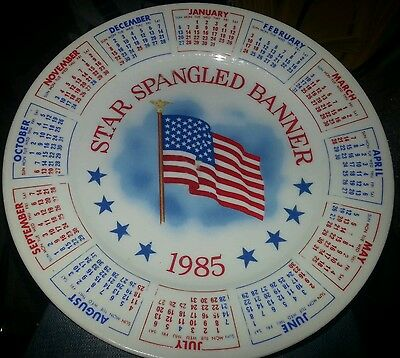 """Star Spangled Banner"" 1985 Calendar Collector's Plate"
