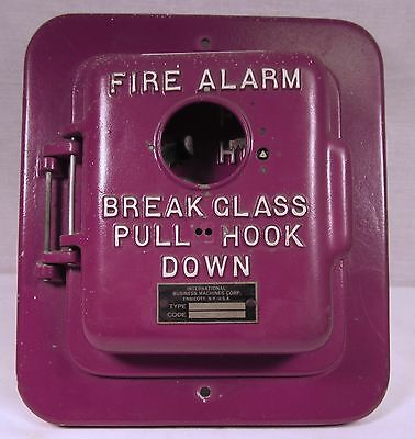 Vintage IBM Red Fire Alarm Box SIG 318 Type NY Used