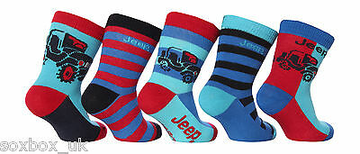 5 Pairs Boys Baby Designer Jeep socks JBB001 size 0-0 Uk, Newborn