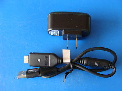 GENUINE SAMSUNG WALL CHARGER + USB SYNC CABLE FOR SAMSUNG SH100 DIGITAL CAMERA