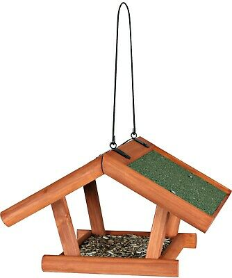 Trixie natura Bird Food Seed Suet Feeder large landing space & roof overhang