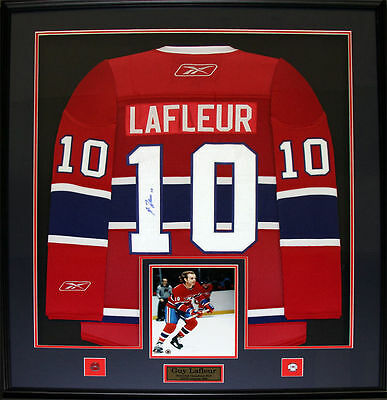 Guy Lafleur Autographed / Signed & Framed Hockey Jersey Montreal Canadiens