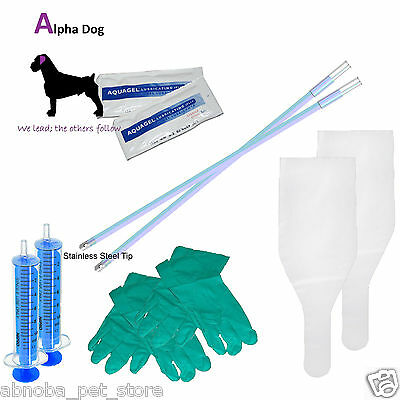 Canine Flexible Deluxe AI Breeding Kit Artificial Dog Insemination Stainless Tip